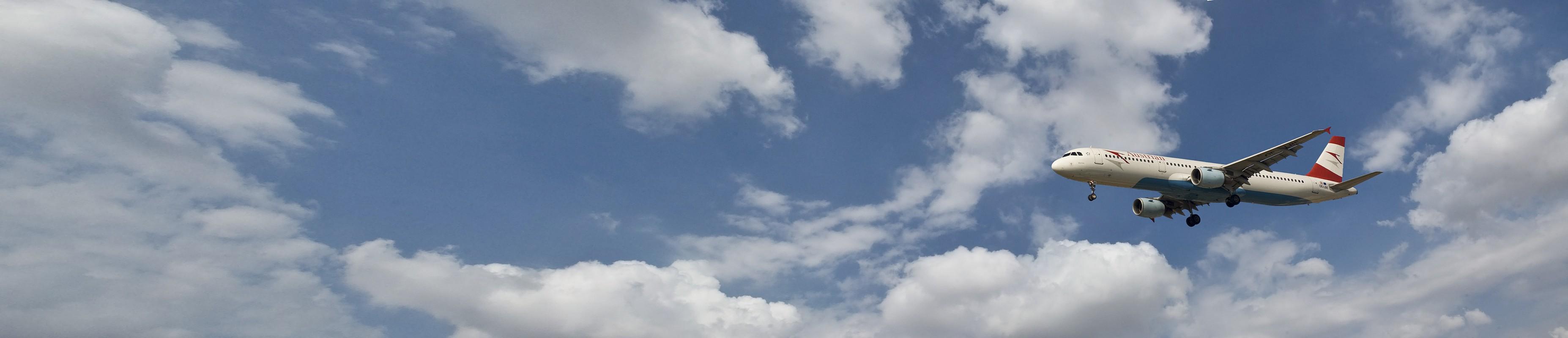 באוויר | שמיים עננים מטוס תעופה פנורמה